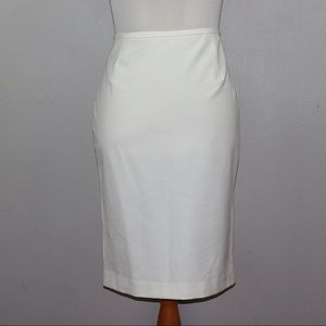 Calvin Klein Off White Pencil Skirt